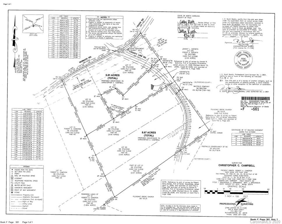 Image 1 for 00000 Womack Road in Mill Spring, North Carolina 28756 - MLS# 3519692