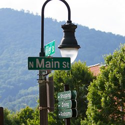 Photo of Waynesville's Downtown Main Street