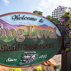 Photo of Frog Level National Historic District Sign