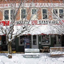 Photo of a Snow fallen View of Thompson's Store & Ward's Grill