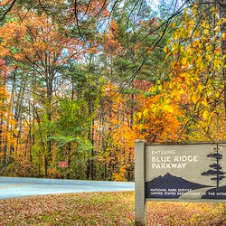 Photo of Beautiful Blue Ridge Parkway with Fall Colors